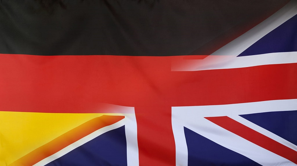 англо-немецкий флаг