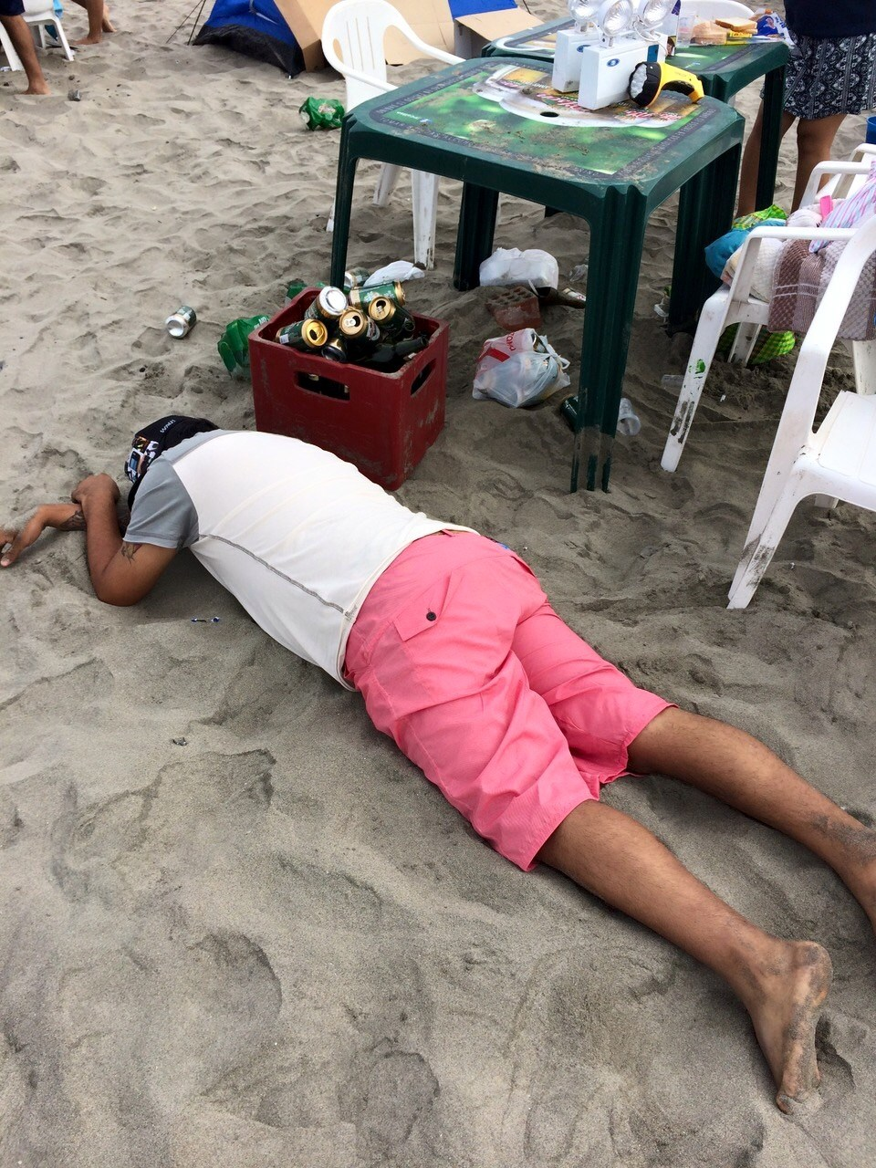 устал на песке