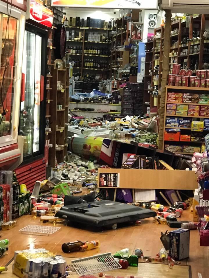 Товары после землетрясения
