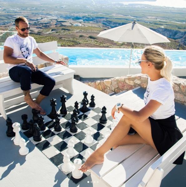Елена Летучая шахматы с мужем