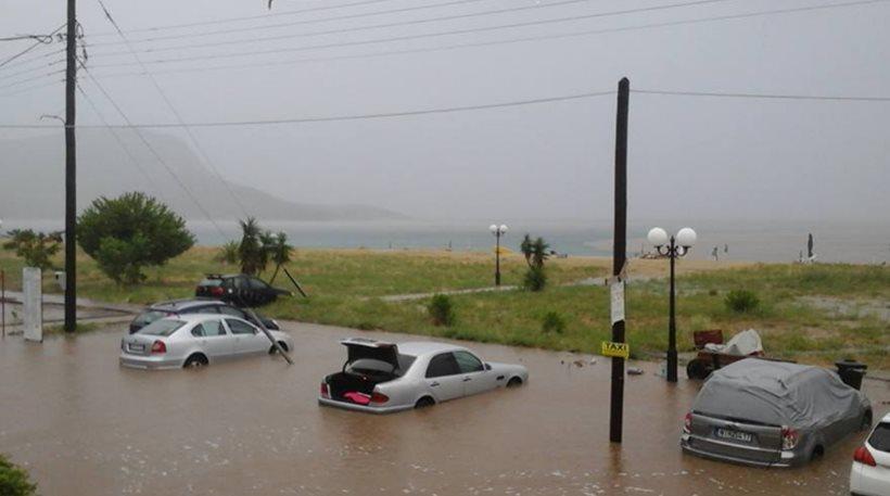 затоплены машины