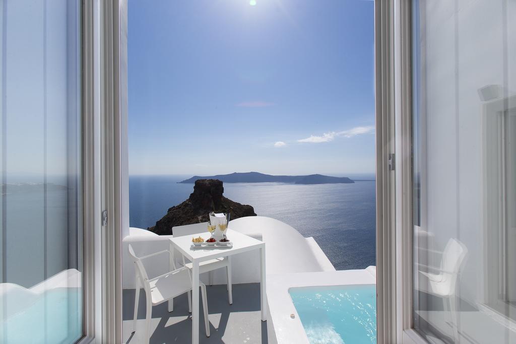Grace Santorini вид из отеля