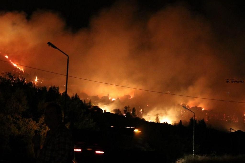 Ночной пожар Кефалония