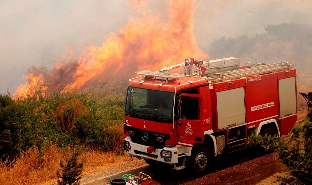 остров Китира пожар