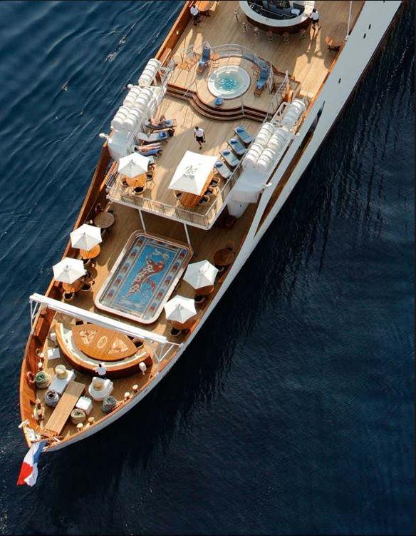 Яхта Онассиса вид сверху