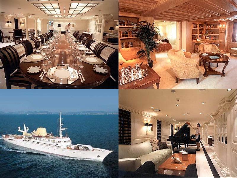 Яхта Онассиса общий вид