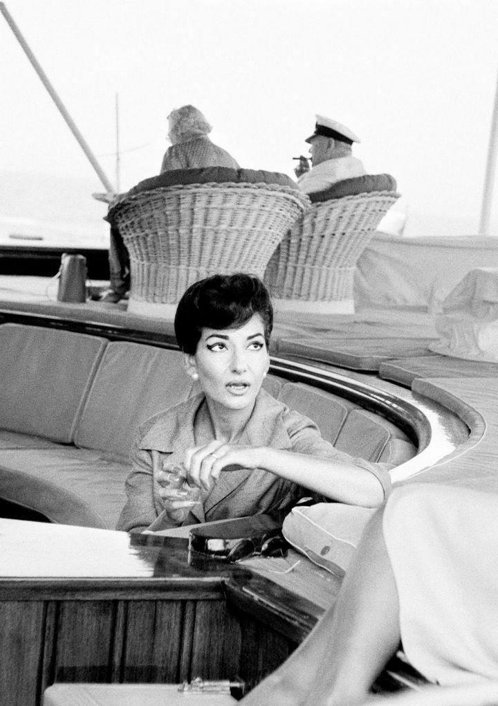 Яхта Онассиса старое фото