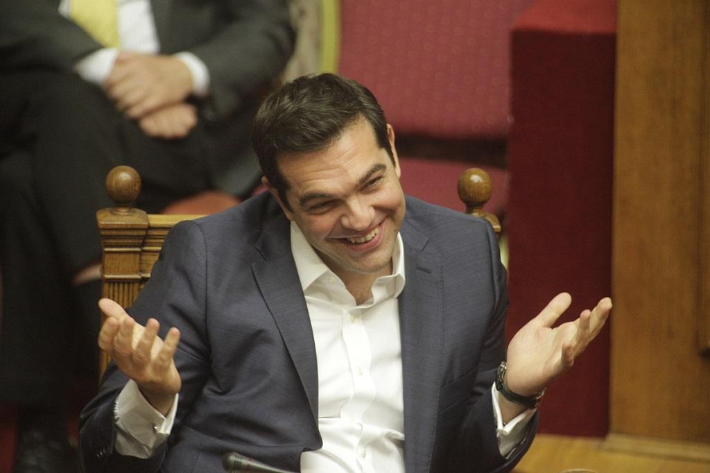 Ципрас смеется
