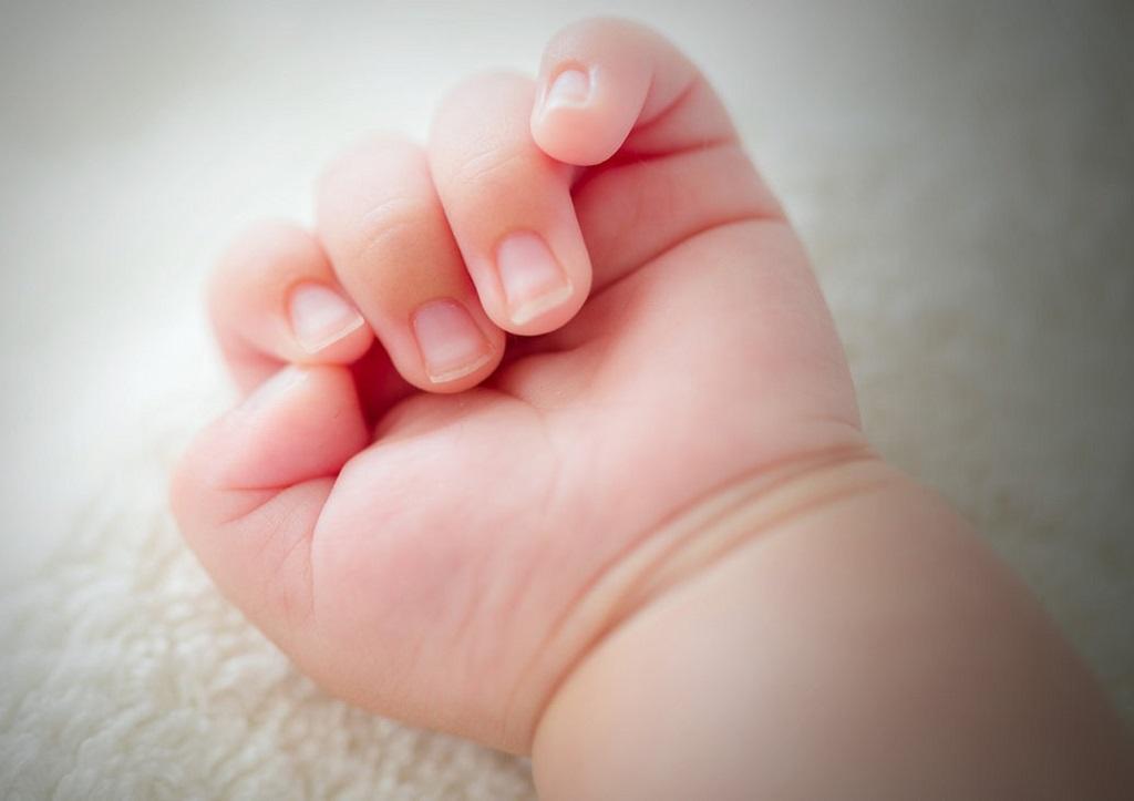 рука ручка новорожденного ребенка