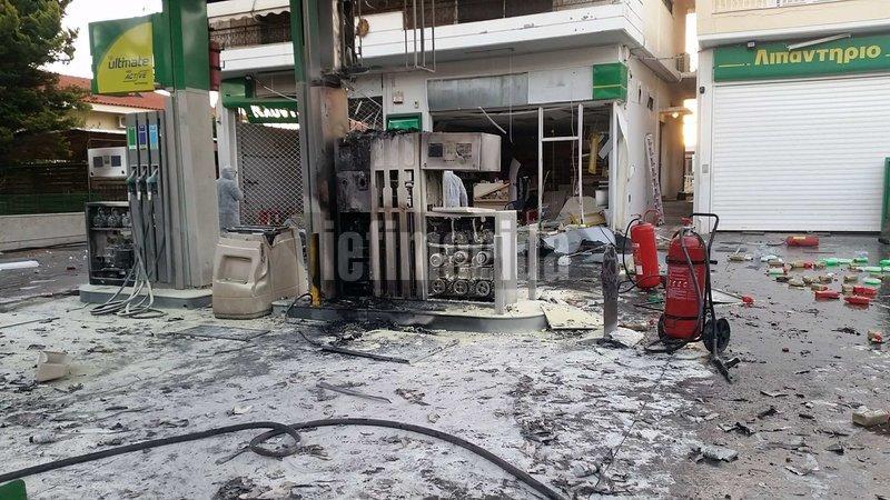 бомба на заправке в греции