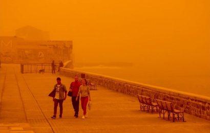 Африканская пыль вновь накрыла Крит